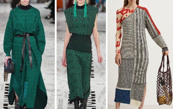 Трикотажные платья: тренды 2020 года
