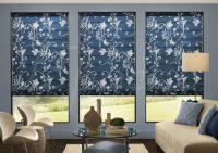 Варианты штор и жалюзи для панорамных окон